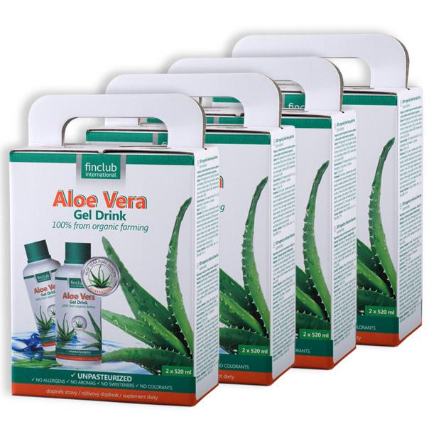 100% organiczny żel do picia Aloe Vera - zestaw 4 szt.