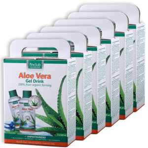 100% organiczny żel do picia Aloe Vera - zestaw 6 szt.